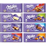 Milka Assorted Chocolates Variety Pack of 8 Bars (Bundle #2)