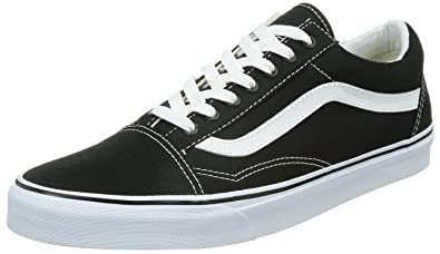 delicate colors 60% cheap clearance sale Vans Unisex Old Skool Skate Shoe (9 B(M) US Women/7.5 D(M) US Men,  Black/White)