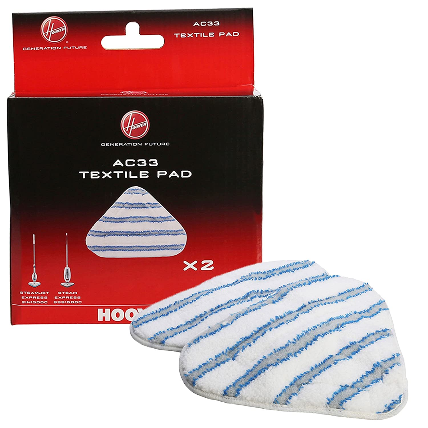 Hoover Express Steam AC33 tipo tessuto in microfibra per scopa a vapore Steam Mop 35601658-Pads