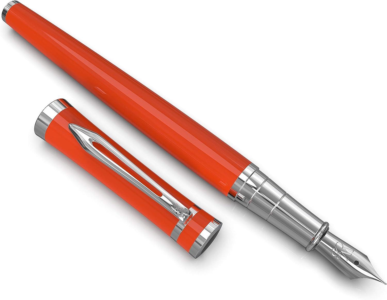Penna Deluxe Vintage Penna Calligrafia Argento oro Penna per scrivere Collezione Erudite Luxury Rollerball Pen di Wordsworth /& Black con custodia regalo Set penne stilografiche executive