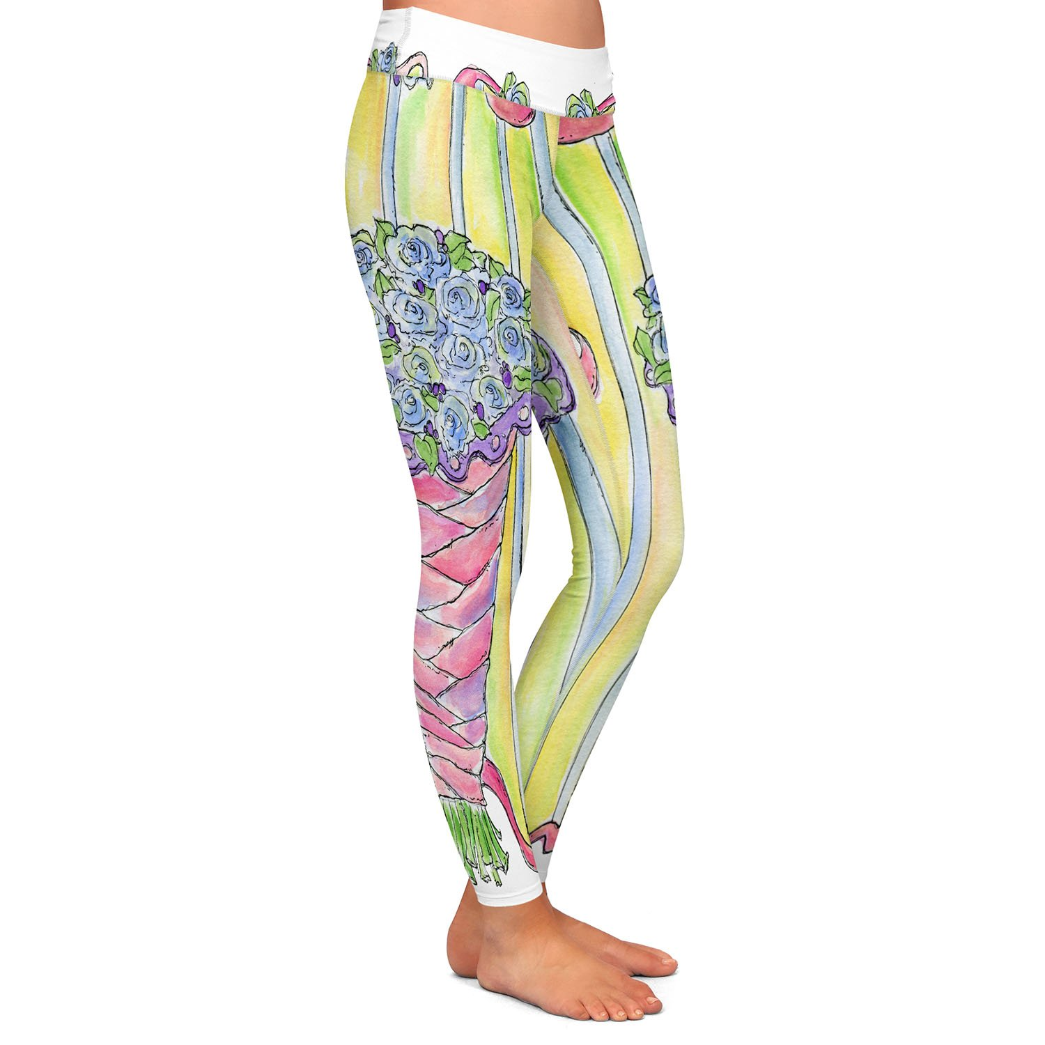 DiaNoche Designs Athletic Yoga Leggings from by Marley Ungaro - Wedding Bouquet