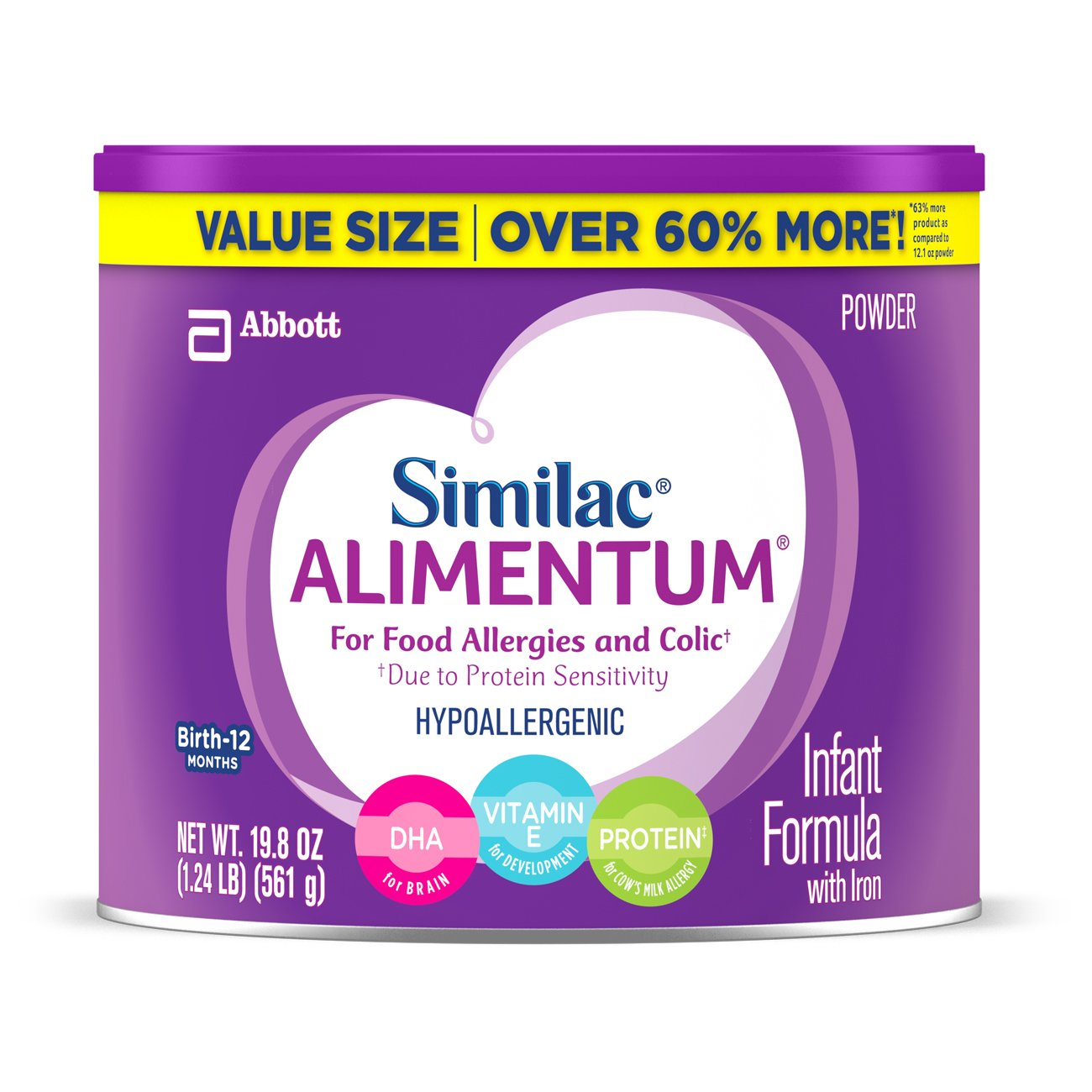 Similac Expert Care Alimentum Hypoallergenic Infant Formula with Iron, 19.8 Ounce by Similac