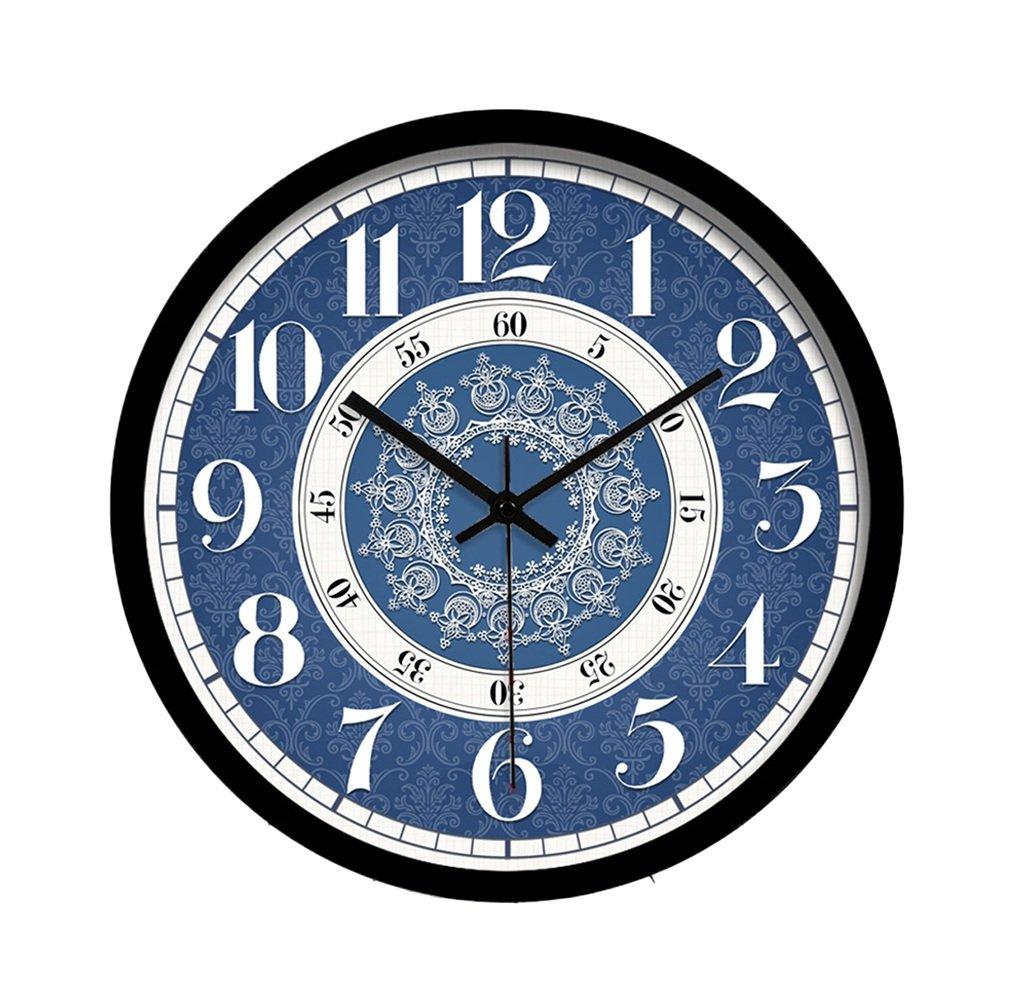 CSQ 書店サイレントウォールクロック、ジュエリーショップレストランスタディリビングルームベッドルームモールコーヒーショップウォールクロックメタルウォールクロック30-40CM ウォールクロックと掛け時計 (色 : B, サイズ さいず : 40 * 40CM) B07FDSN6R1 40*40CM|B B 40*40CM