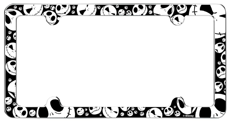 2 Disney Nightmare Before Christmas Jack Skelington Plastic License Plate frame