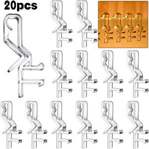 Hidden Valance Clips 2.1 Inch Clear Plastic Valance Clips for Horizontal Blind Valance (20)