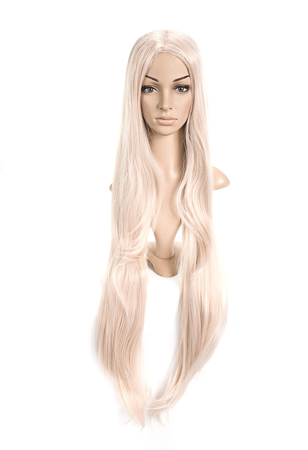 Blondish Weiß Extra Long Length Cosplay Costume Wig