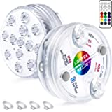 LOFTEK LED Lights Waterproof with Remote (RF), Suction Cups, Magnets, Color Changing Submersible LED Light Battery…