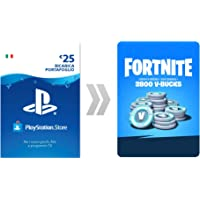 PSN Credito per Fortnite  2800 V-Bucks | Codice download per PS4 - Account italiano