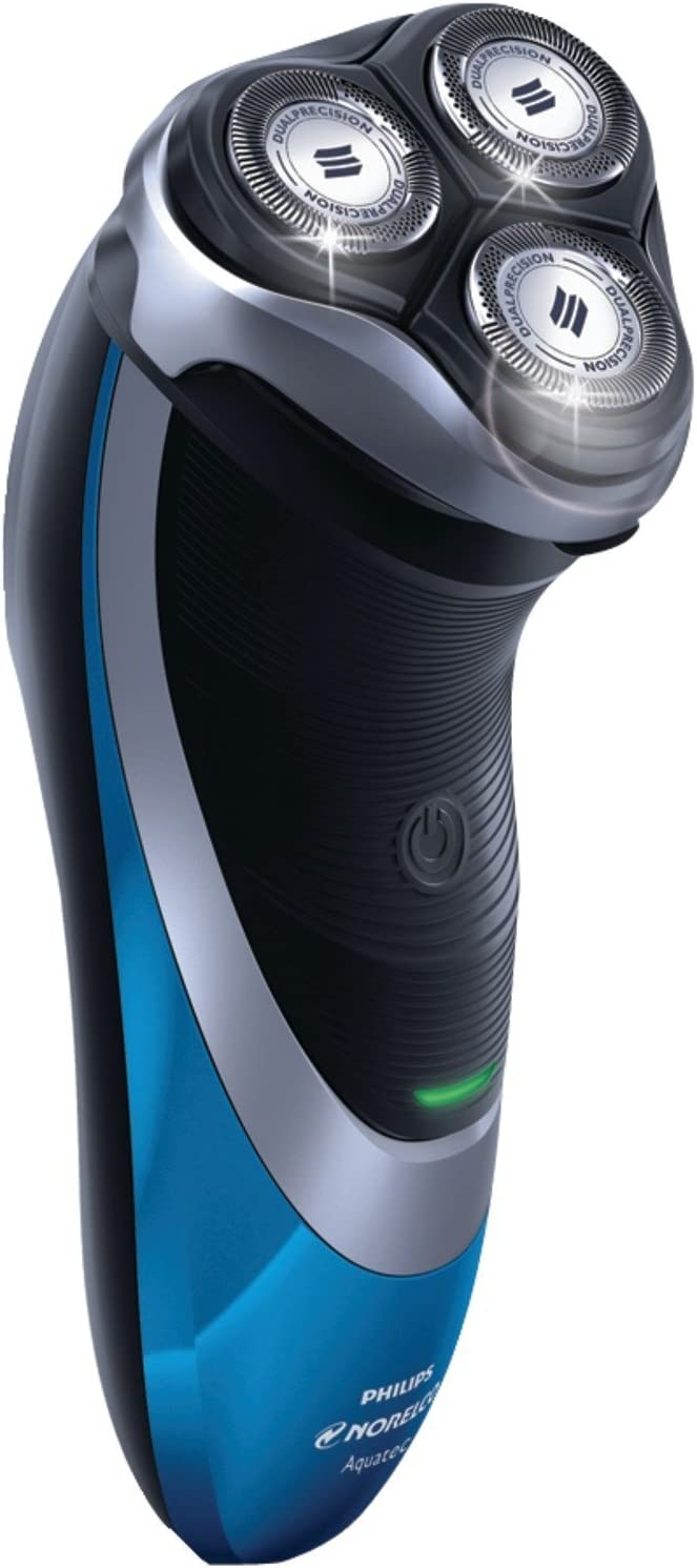 Philips Norelco Cordless Powertouch with Aquatec Electric Razor, DualPrecision Shaving System, Super Lift and Cut Dual-Blade, Flexing Heads, Pop-Up Trimmer, 3 Minute Quick Charge, LED Battery Indicator, Fully Washable