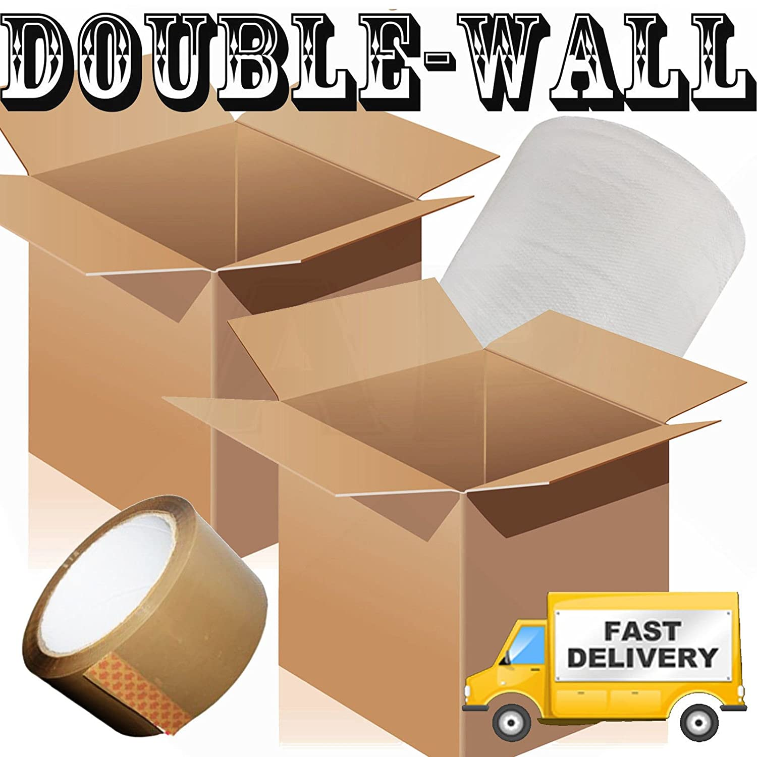 10 X LARGE DOUBLE WALL Box Pack Cardboard House Moving Boxes - Removal Packing J4 Packaging