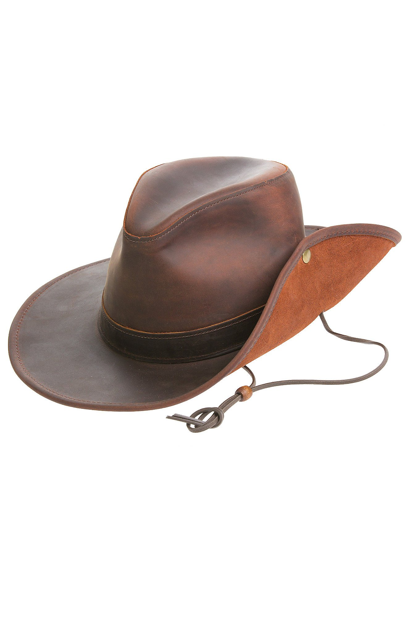 Overland Sheepskin Co Aussie Distressed Leather Outback Hat