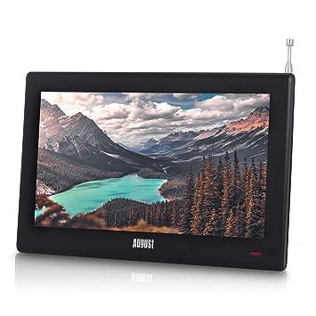 """Televisión Portátil TDT HD 10"""" DVB-T & DVB-T2 August DA100D Pantalla LCD UHD Ready. Grabador PVR y Reproductor Multimedia Retransmisión Digital & ..."""
