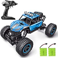 RC Car, SHARKOOL 2019 Newest 2.4Ghz 4WD 1/16 Scale RC Trucks Rc Crawlers Remote Control Car with Two Rechargeable Batteries, Off Road Vehicle for Kids & Adults, Blue