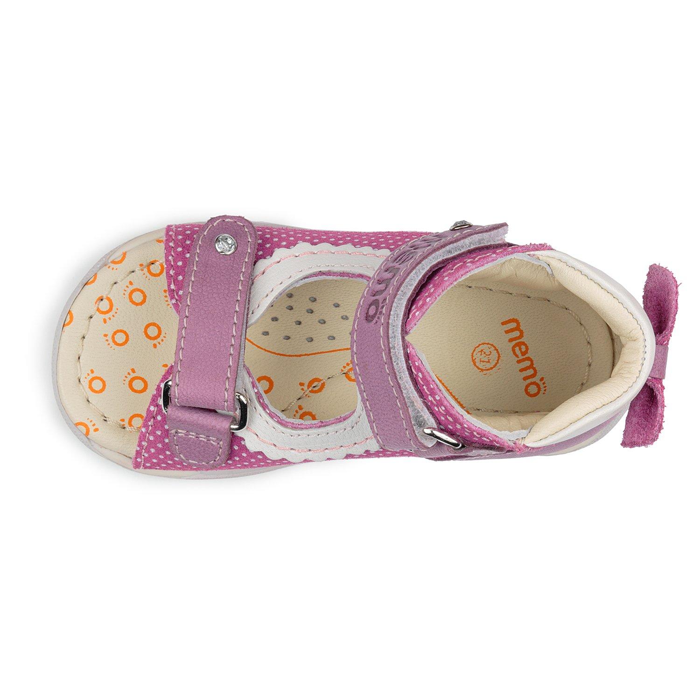 Memo Mini 1JE Baby Girl' First Walker Orthopedic Leather Anti-Slip Sandal, 19 (4 Toddler) by Memo (Image #4)