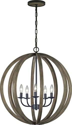 Feiss F2936/5WOW/AF Allier Pendant Lighting