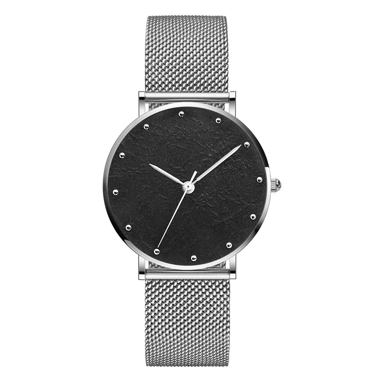 LUXMO PREMIUM Classic Women s Rose Gold Watch Stainless Steel Mesh Bracelet Casual Fashion Wrist Watches 32MM Women s Analog Minimalist Watch 30M Waterproof Ladies Art Dress Wristwatches