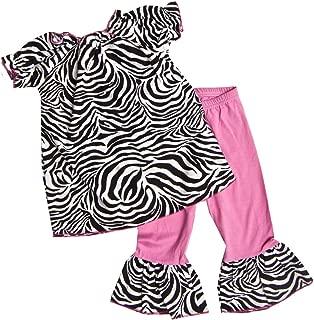 product image for Cheeky Banana Sweet Little Girls Zebra top & Leggings Black & White