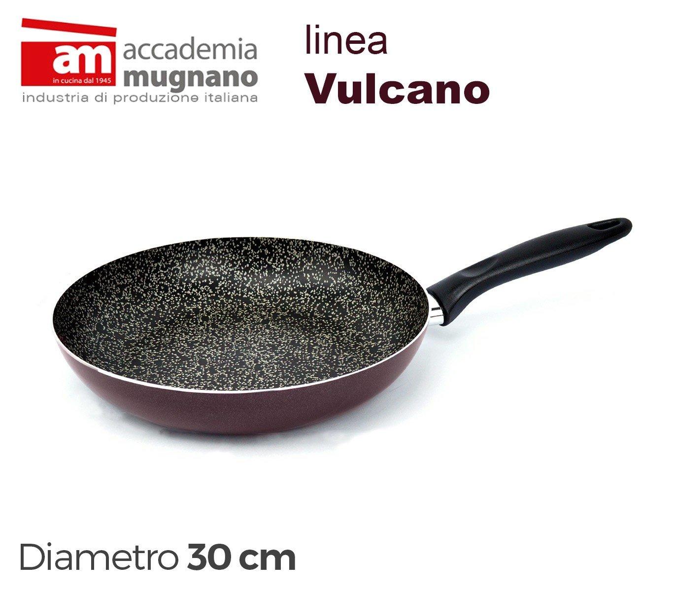 MWS2637 - VUPDL30 Sartén antiadherente - Accademia Mugnano linea Vulcano 30cm efecto piedra: Amazon.es: Hogar