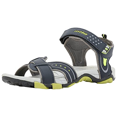 325080091 Lotto Men s Grey Lime Sandals and Floaters  Buy Online at Low Prices ...