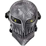 FAMI Protective Mask Gear for Airsoft & Outdoor Cs War Game Live Field Mask - Scary Ghost Skull Mask for Halloween