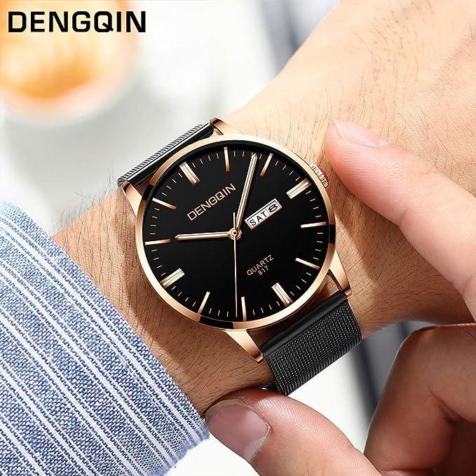Amazon.com: Longay Watch, Luxury Quartz Sport Military Stainless Steel Dial Band Wrist Watch (E): Home & Kitchen