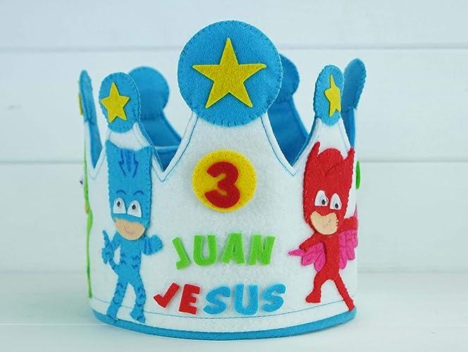 Corona Cumpleaños Héroes en pijama
