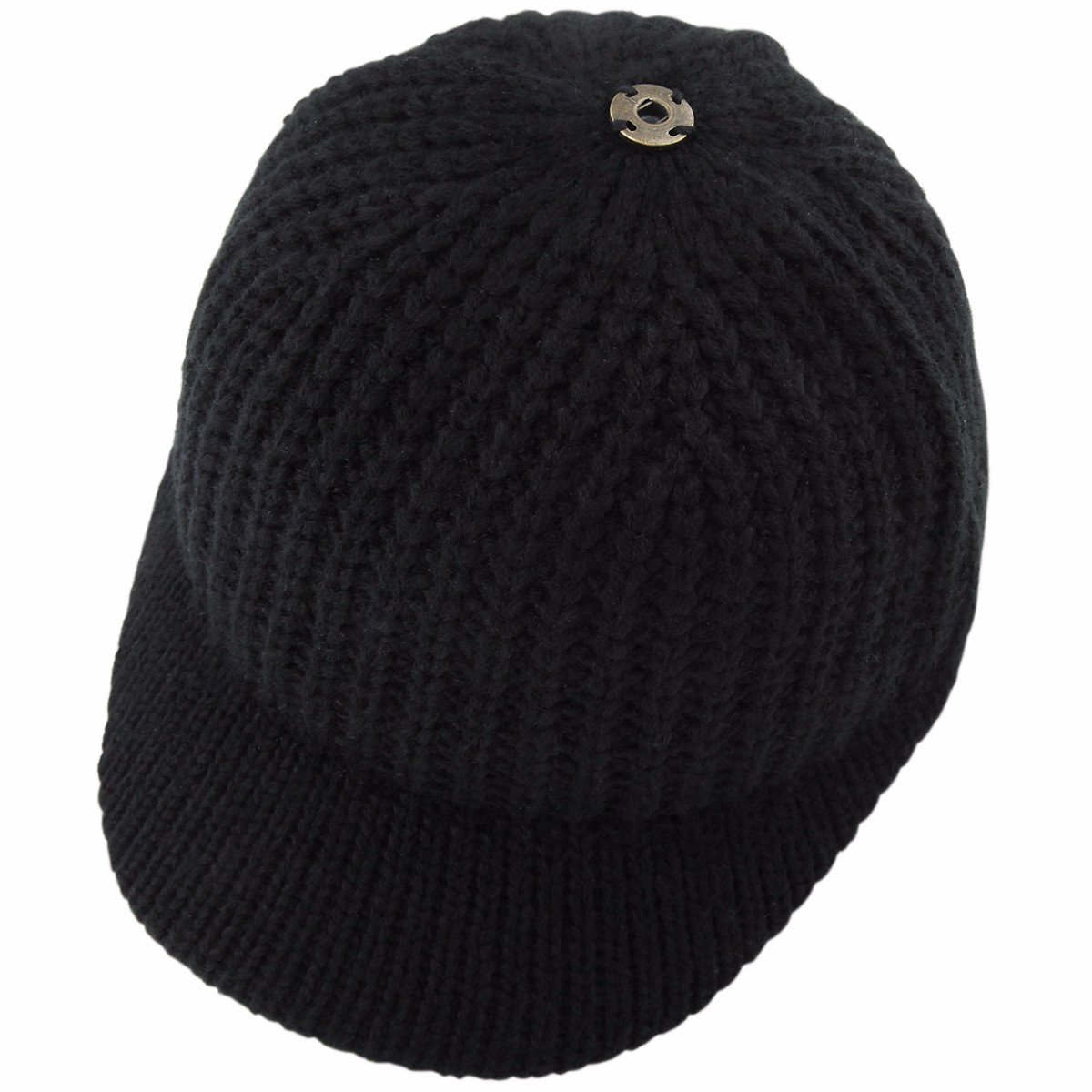 c44d6af2f Samtree Women's Beanie Hat with Visor,Winter Warm Slouchy Knitted Baseball  Cap