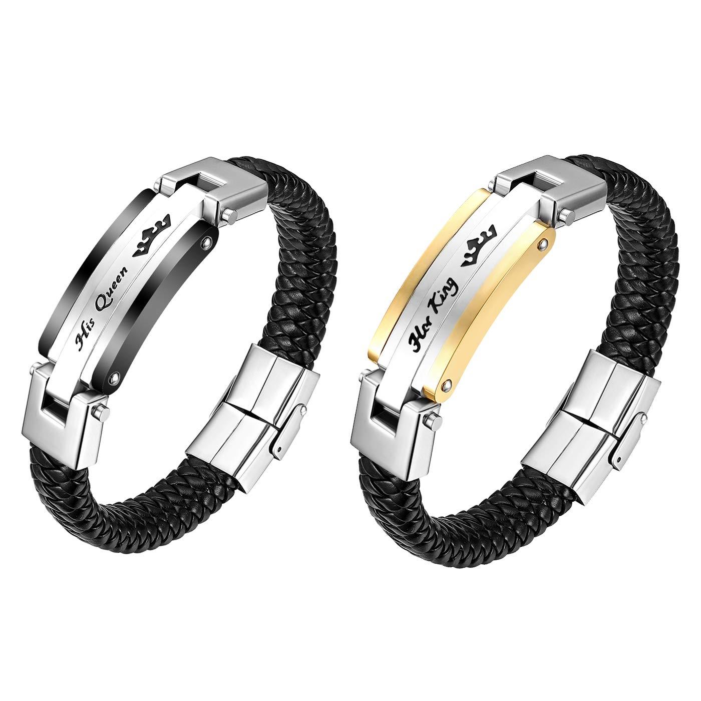 ✅Partner Armband King /& Queen Perlen Krone Liebe Jahrestag 2x Pärchen Armband