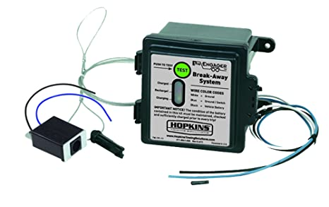 amazon com hopkins 20100 engager break away kit with led battery rh amazon com Heavy Duty Trailer Wiring Diagram Heavy Duty Trailer Wiring Diagram