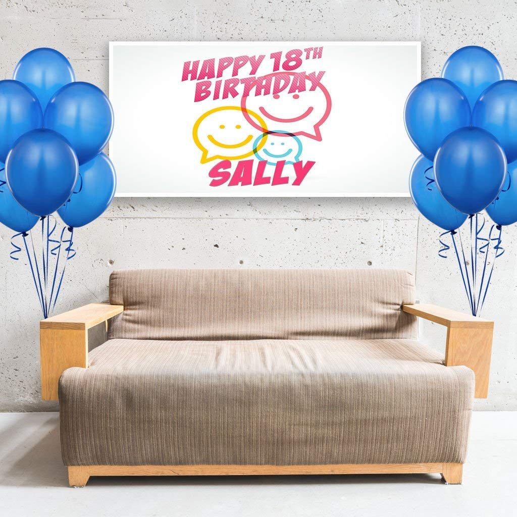 Text Cloud Emoji Birthday Banner Personalized Party Backdrop Decoration