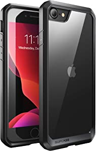 SUPCASE Unicorn Beetle Series Case Designed for iPhone SE 2nd Generation (2020)/iPhone 7/iPhone 8, Premium Hybrid Protective Frost Clear Case (Black)