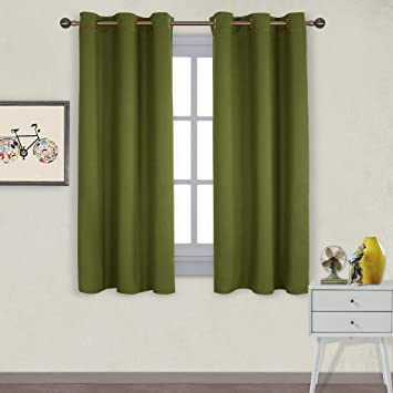 NICETOWN Thermal Insulated Solid Grommet Blackout Curtains / Drapes For  Livingroom (One Pair,42