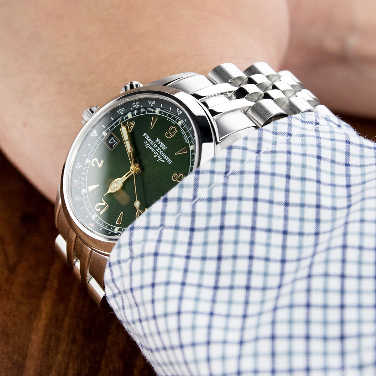 20mm Angus Jubilee 316L SS Watch Bracelet for Seiko Alpinist SARB017, V-Clasp by Seiko Replacement by MiLTAT (Image #2)