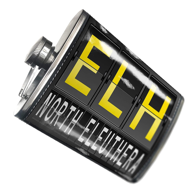 8オンスフラスコステッチELH Airportコードfor北エルーセラステンレススチール – Neonblond   B00QQVZFL6
