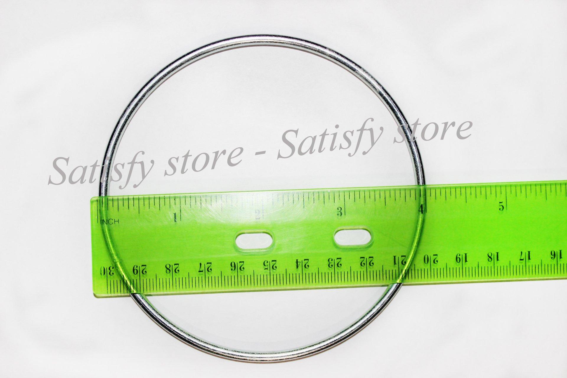 Bistore - Set of 10pcs Dream Catcher metal hoops (Dream Catcher metal rings) (4-inch, Silver)