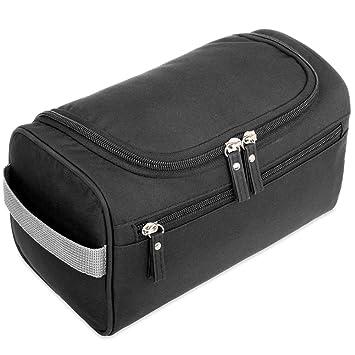 H S Hanging Travel Toiletry Bag Overnight Wash Gym Shaving Bag for Men and  Women Ladies Black 7b9de52585
