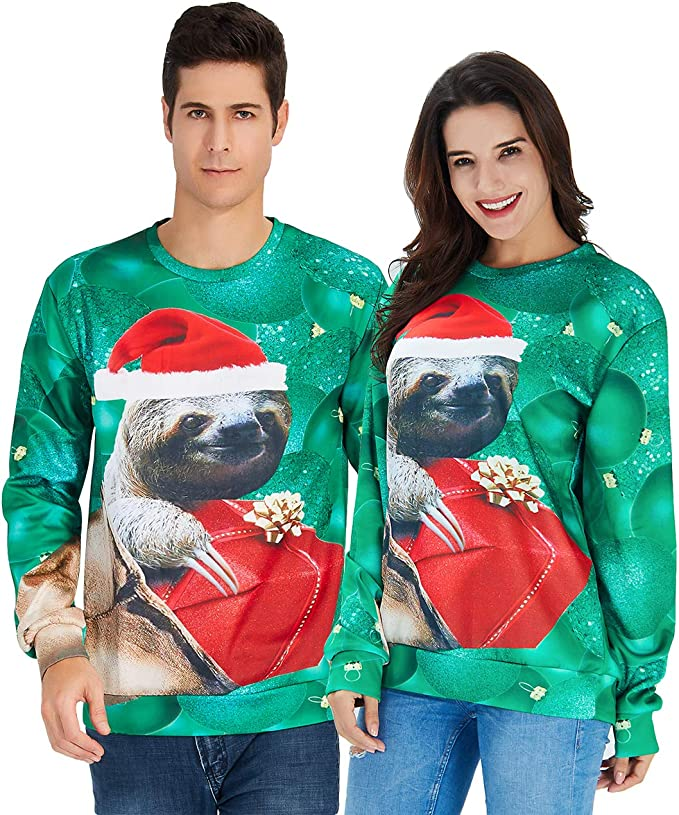 Unisex Ugly Christmas Sweater 3D Printed Funny Graphic Pullover Best Ugly Christmas Sweaters Ever