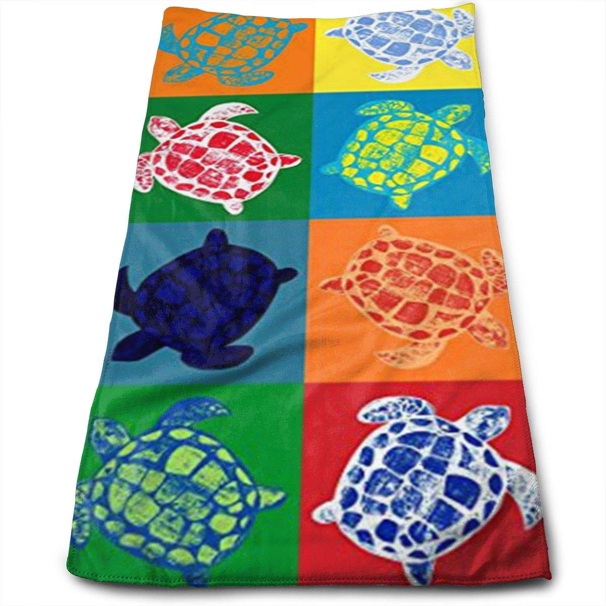 Colorful Sea Turtle Microfiber Towel,Perfect Sports & Travel &Beach Towel. Fast Drying - Super Absorbent - Antibacterial-Ultra Compact.
