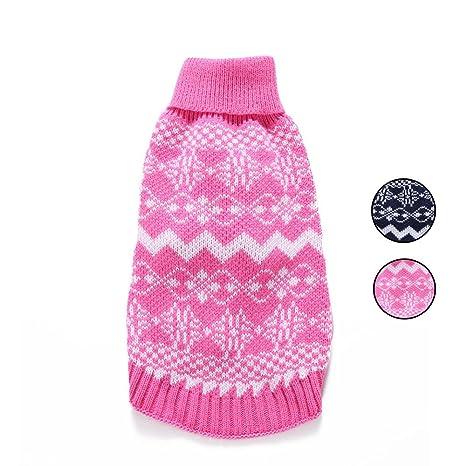 2 patrones de punto suéter de perro, prendas de punto ropa de perro con Fair