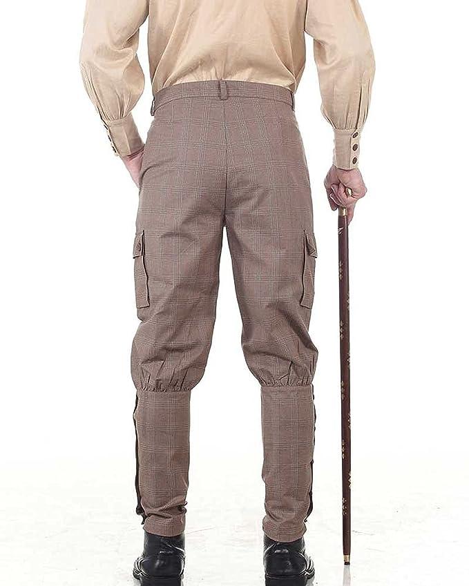 Pantalone da uomo in stile steampunk, stile da vampiro vittoriano gotico, punk, costume C1348, ThePirateDressing