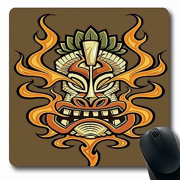 Mousepad Oblong hawaiano Tatuaje Fuego Respiración Tiki Clip ...