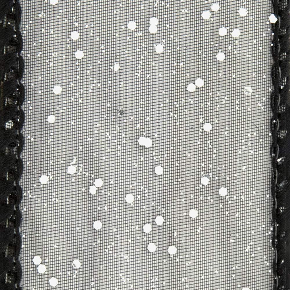 Offray Fuchsia Wired Edge Cosmic Glitz Craft Ribbon 1 1//2-Inch x 9-Feet