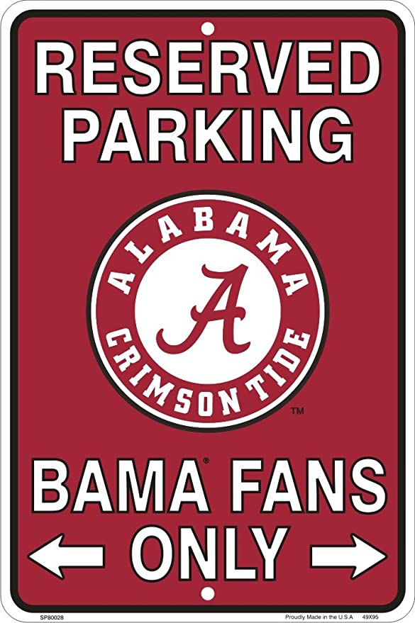 Ramsons Florida Gators Fans Reserved Parking Sign Metal 8 x 12 Embossed by Tag City
