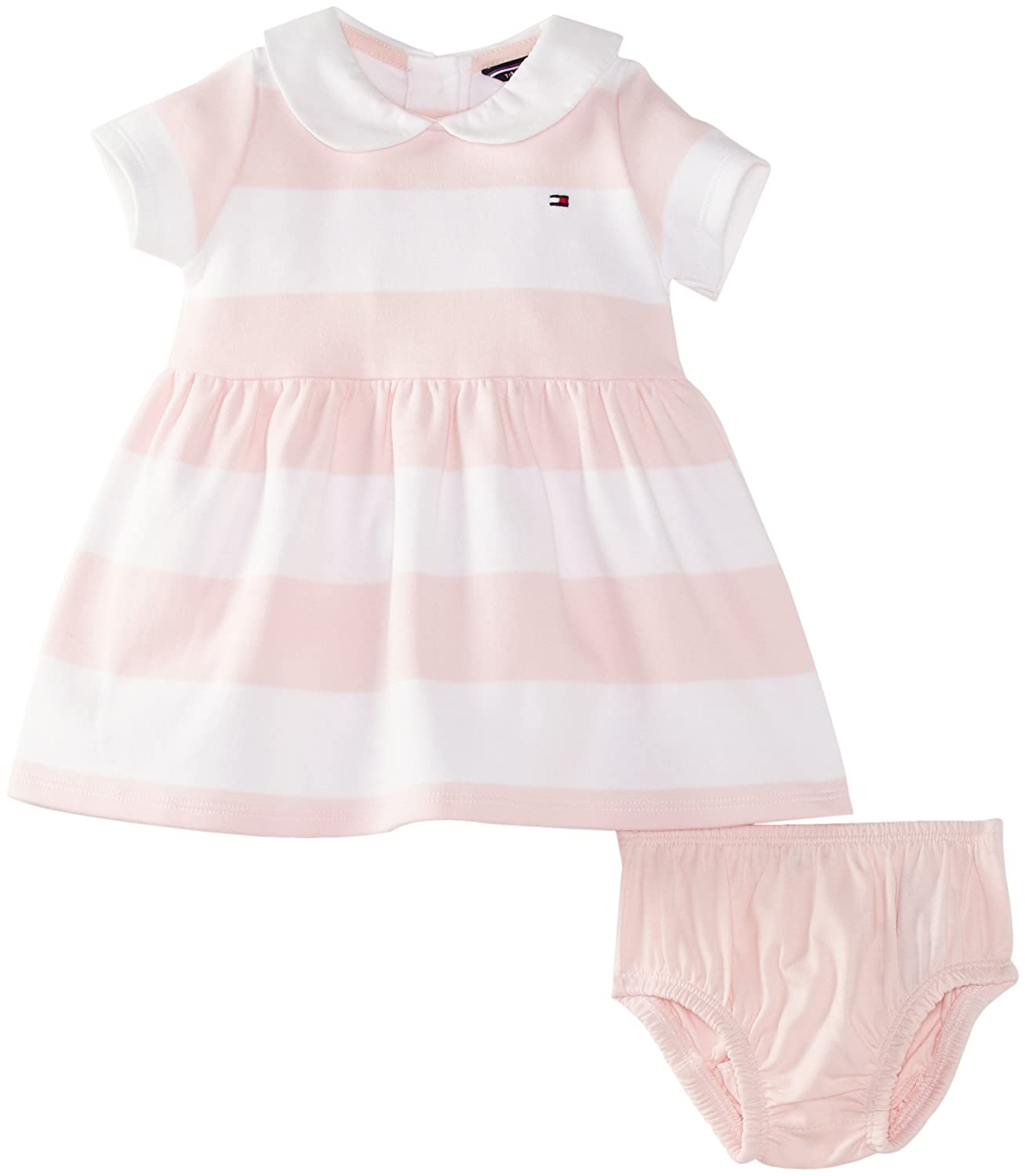 Tommy Hilfiger Baby Girls Rugby Short Sleeve Striped Dress Baby