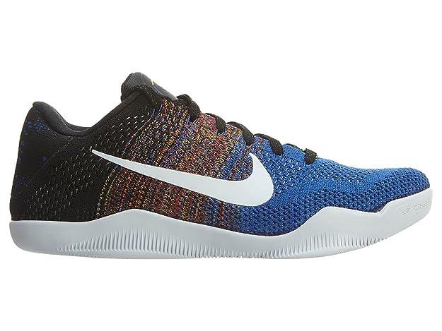san francisco 75ba2 8de76 Nike Kobe XI Elite Low BHM 822522-914 White Royal Flyknit Men s Basketball  Shoes Size US10  Amazon.ca  Shoes   Handbags