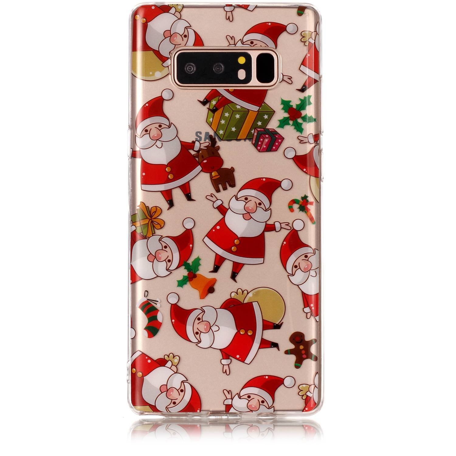 Jewby Galaxy Note 8 Case, Vivid Cute Xmas Case for Samsung Galaxy Note 8 with a Free Screen Protector YHS8P1016B