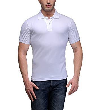 8b8808d1f4 Kalpit Men's Comfort Soft Cotton Plain Polo Collar Half Sleeve T-Shirt with  Solid Color t-Shirts for Mens Available in Many Colours