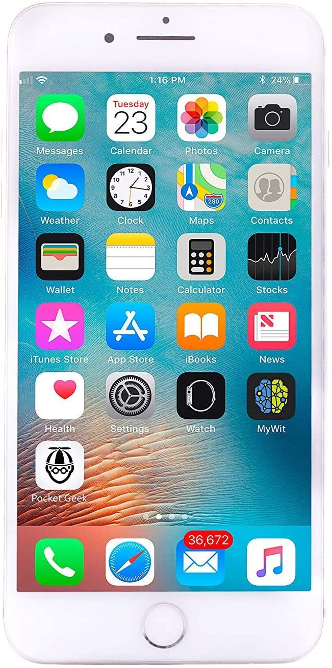 Apple iPhone 8 Plus, 64GB, Silver - For AT&T (Renewed)