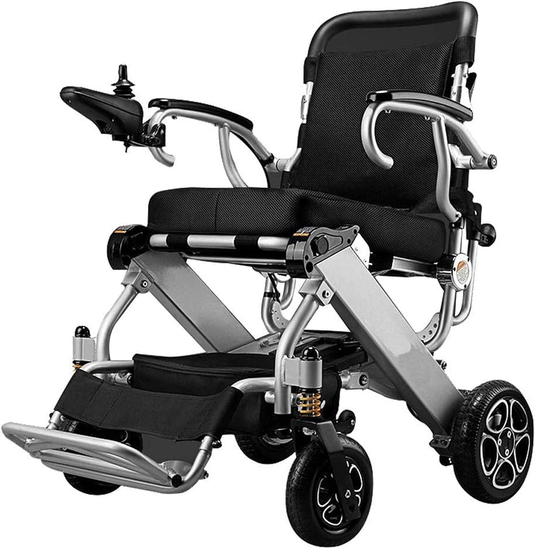 Silla de Ruedas eléctrica Plegable, Carry plegable eléctrica de la silla de ruedas eléctrica estable más seguro Safe Portable motorizado Vespa Ligera, plegable, de doble motor eléctrico con silla de r