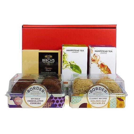 Caja de regalo de té y galletas Deluxe - Regalo de cumpleaños perfecto, para la